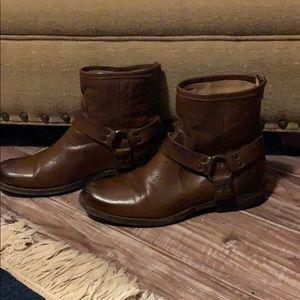 Frye leather brown booties
